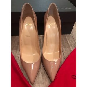 NEW nude Louboutin Pigalle 100mm SZ 40.5